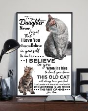 TO MY DAUGHTER - CAT - NEVER FORGET THAT 16x24 Poster lifestyle-poster-2