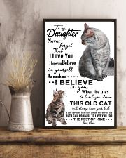 TO MY DAUGHTER - CAT - NEVER FORGET THAT 16x24 Poster lifestyle-poster-3