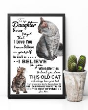 TO MY DAUGHTER - CAT - NEVER FORGET THAT 16x24 Poster lifestyle-poster-8