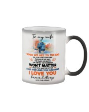 TO MY WIFE Color Changing Mug tile