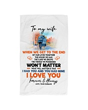 TO MY WIFE Hand Towel tile