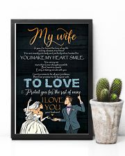 To My Wife - In You I've Found The Love Of My 16x24 Poster lifestyle-poster-8