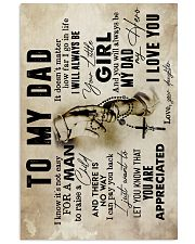 To My Dad - Hands - Poster  16x24 Poster front