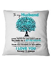 TO MY HUSBAND Square Pillowcase thumbnail