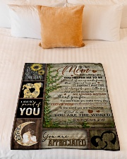 """TO MOM - YOU ARE APPRECIATED Small Fleece Blanket - 30"""" x 40"""" aos-coral-fleece-blanket-30x40-lifestyle-front-04"""
