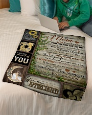 "TO MOM - YOU ARE APPRECIATED Small Fleece Blanket - 30"" x 40"" aos-coral-fleece-blanket-30x40-lifestyle-front-07"