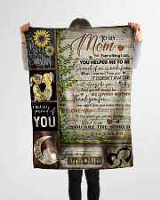 "TO MOM - YOU ARE APPRECIATED Small Fleece Blanket - 30"" x 40"" aos-coral-fleece-blanket-30x40-lifestyle-front-14"