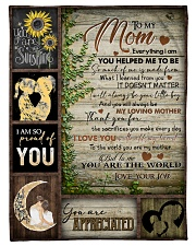 "TO MOM - YOU ARE APPRECIATED Small Fleece Blanket - 30"" x 40"" front"