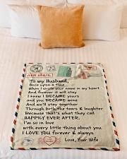 """Gifts for Husband - Fleece Blanket  Small Fleece Blanket - 30"""" x 40"""" aos-coral-fleece-blanket-30x40-lifestyle-front-04"""