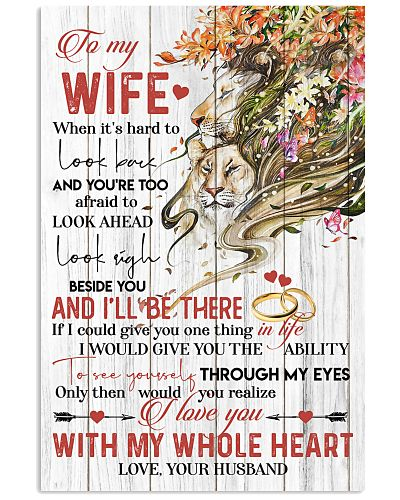 TO MY WIFE - LION - I LOVE YOU