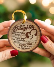 Mom to Daughter Christmas - Wherever Your Journey Circle ornament - single (porcelain) aos-circle-ornament-single-porcelain-lifestyles-08