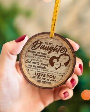 Mom to Daughter Christmas - Wherever Your Journey Circle ornament - single (porcelain) aos-circle-ornament-single-porcelain-lifestyles-09