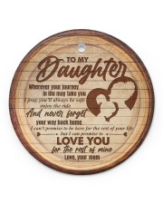 Mom to Daughter Christmas - Wherever Your Journey Circle ornament - single (porcelain) front