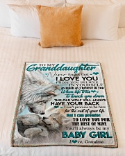 """TO MY GRANDDAUGHTER - WOLVES - I LOVE YOU Small Fleece Blanket - 30"""" x 40"""" aos-coral-fleece-blanket-30x40-lifestyle-front-04"""