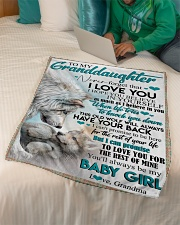 """TO MY GRANDDAUGHTER - WOLVES - I LOVE YOU Small Fleece Blanket - 30"""" x 40"""" aos-coral-fleece-blanket-30x40-lifestyle-front-07"""