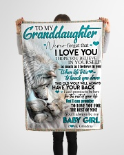 """TO MY GRANDDAUGHTER - WOLVES - I LOVE YOU Small Fleece Blanket - 30"""" x 40"""" aos-coral-fleece-blanket-30x40-lifestyle-front-14"""