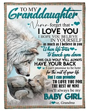 """TO MY GRANDDAUGHTER - WOLVES - I LOVE YOU Small Fleece Blanket - 30"""" x 40"""" front"""