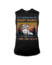 TO DAD - T REX - IN A WORLD FULL OF DADDY SHARKS Sleeveless Tee thumbnail