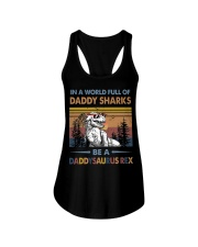 TO DAD - T REX - IN A WORLD FULL OF DADDY SHARKS Ladies Flowy Tank thumbnail