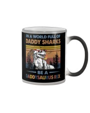 TO DAD - T REX - IN A WORLD FULL OF DADDY SHARKS Color Changing Mug thumbnail