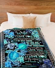 "To My Wife - I Want You To Believe Deep In Your  Large Fleece Blanket - 60"" x 80"" aos-coral-fleece-blanket-60x80-lifestyle-front-02"