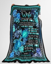 """To My Wife - I Want You To Believe Deep In Your  Large Fleece Blanket - 60"""" x 80"""" aos-coral-fleece-blanket-60x80-lifestyle-front-10"""
