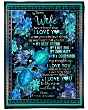 """To My Wife - I Want You To Believe Deep In Your  Large Fleece Blanket - 60"""" x 80"""" front"""