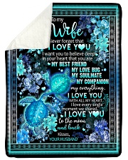 "To My Wife - I Want You To Believe Deep In Your  Large Sherpa Fleece Blanket - 60"" x 80"" thumbnail"
