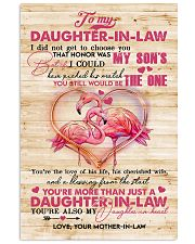 To My Daughter-in-law - Flamingo - The One  16x24 Poster front