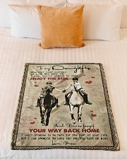 """To Daughter - Horse Riding - Wherever Your  Small Fleece Blanket - 30"""" x 40"""" aos-coral-fleece-blanket-30x40-lifestyle-front-04"""