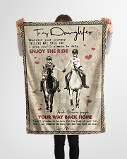 """To Daughter - Horse Riding - Wherever Your  Small Fleece Blanket - 30"""" x 40"""" aos-coral-fleece-blanket-30x40-lifestyle-front-14"""