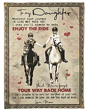 """To Daughter - Horse Riding - Wherever Your  Small Fleece Blanket - 30"""" x 40"""" front"""