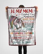 """FLEECE BLANKET - TO MY MOM - UNICORN - THANK YOU Small Fleece Blanket - 30"""" x 40"""" aos-coral-fleece-blanket-30x40-lifestyle-front-14"""