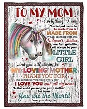 """FLEECE BLANKET - TO MY MOM - UNICORN - THANK YOU Small Fleece Blanket - 30"""" x 40"""" front"""