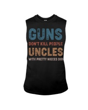 Guns Don't kill people Uncles  Sleeveless Tee thumbnail