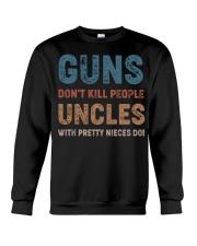 Guns Don't kill people Uncles  Crewneck Sweatshirt thumbnail