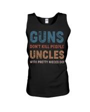 Guns Don't kill people Uncles  Unisex Tank thumbnail