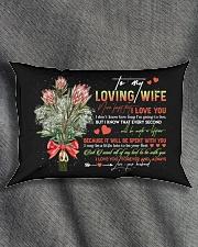 TO MY WIFE - KING PROTEA - I LOVE YOU Rectangular Pillowcase aos-pillow-rectangle-front-lifestyle-1