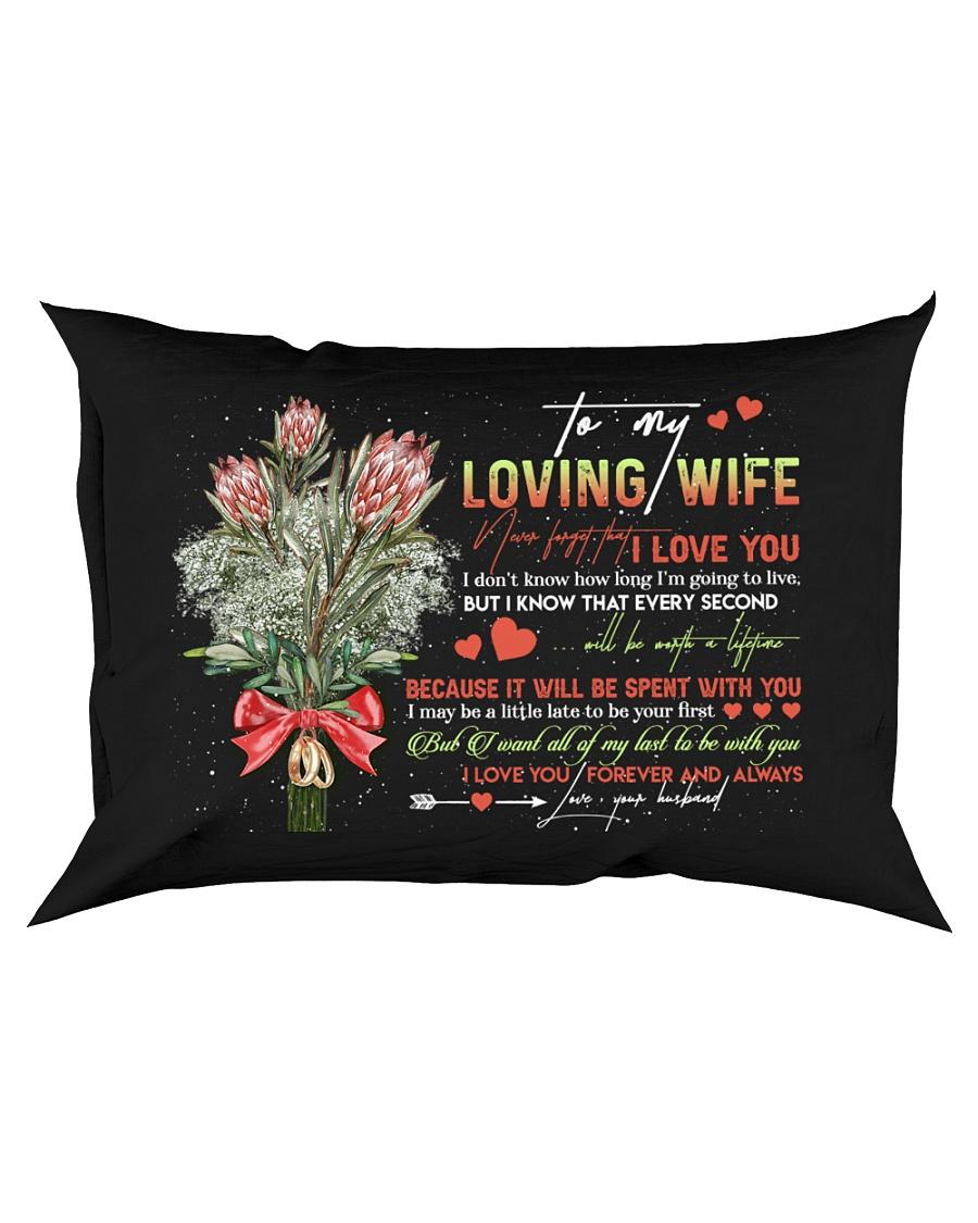 TO MY WIFE - KING PROTEA - I LOVE YOU Rectangular Pillowcase