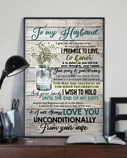 To Husband - Flowers - I Give You My Promise  16x24 Poster lifestyle-poster-2