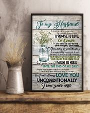To Husband - Flowers - I Give You My Promise  16x24 Poster lifestyle-poster-3