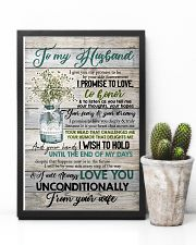 To Husband - Flowers - I Give You My Promise  16x24 Poster lifestyle-poster-8