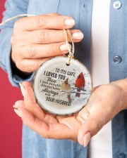 Christmas - I Loved You then - Cardinal  Circle ornament - single (porcelain) aos-circle-ornament-single-porcelain-lifestyles-01