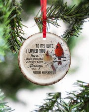 Christmas - I Loved You then - Cardinal  Circle ornament - single (porcelain) aos-circle-ornament-single-porcelain-lifestyles-07