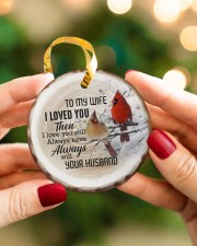 Christmas - I Loved You then - Cardinal  Circle ornament - single (porcelain) aos-circle-ornament-single-porcelain-lifestyles-08