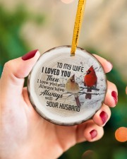 Christmas - I Loved You then - Cardinal  Circle ornament - single (porcelain) aos-circle-ornament-single-porcelain-lifestyles-09