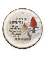 Christmas - I Loved You then - Cardinal  Circle ornament - single (porcelain) front