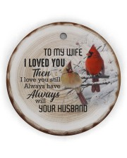 Christmas - I Loved You then - Cardinal  Circle ornament - single (wood) thumbnail