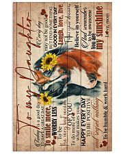 TO MY DAUGHTER - HORSE - GOODDAY 16x24 Poster front