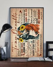 TO MY DAUGHTER - HORSE - GOODDAY 16x24 Poster lifestyle-poster-2